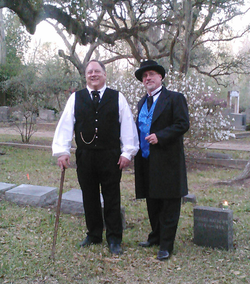 SH.org founder, G. S. Smith and historian George Cantley dress the part in historic St. Francisville